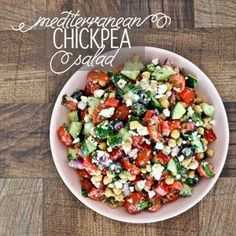Mediterranean Chickpea Salad Gluten Free | Healty Recipes for Dinner