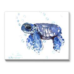 Tortoise Painting Print on Canvas