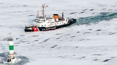 Coast guard boat icebreaker (colors that stand out)