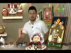 Espazio Ideal 23 de septiembre 2015 Telecafé - YouTube Foam Crafts, Diy And Crafts, Christmas Home, Xmas, Country Paintings, Country Crafts, Tole Painting, Hanging Ornaments, Wool Felt