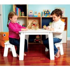 P'kolino Chalk Table - No more messy chalk dust with this easy clean up Chalk Table.