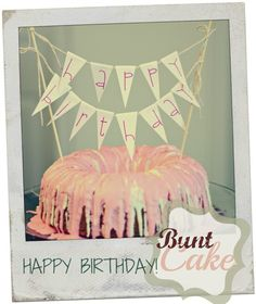 "Planning to decorate a ""Nothing Bundt Cakes"" cake with a mini banner"