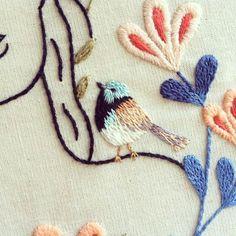Mini-micro bordado {tiny embroidery}  #clubedobordado #wip #detail by clubedobordado