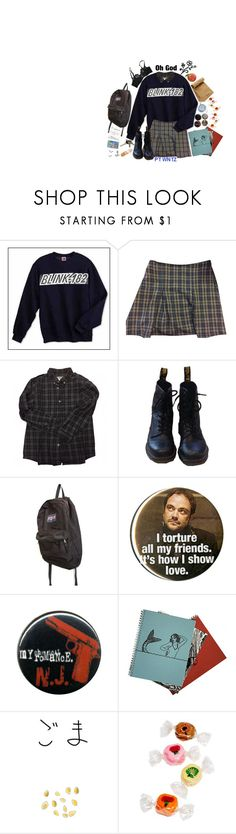 """// I want blood, guts and angel cake //"" by panic1atthefroot ❤ liked on Polyvore featuring Blink, Brandy Melville, Bonpoint, Dr. Martens, JanSport, Hot Topic, Jil Sander, TEM, Toast and Agent Provocateur"