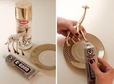 DIY Jewelry Holder Plates   DIY Ring Holder