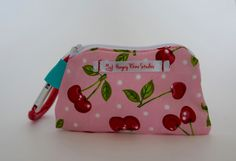 Mouthguard Case, Retainer Case, Mouthguard Holder, Cherries by HungryRhinoStudios on Etsy