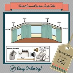 Our Metal Curved Curtain Rod Kits for Bay Windows is packaged with everything that you need for a bay window in one easy kit! Florida Bay, Bay Windows, Drapery Hardware, Window Styles, Price Point, Curtain Rods, Home Projects, Window Treatments, Decorating Ideas