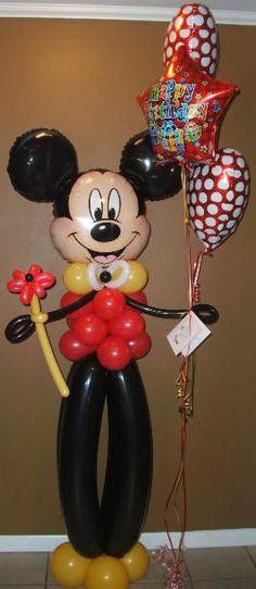 Mickey Mouse Balloon Character Column.  #balloon #Disney #art #balloon #Disney #sculpture #balloon #Disney #twist #balloon #disney #column #balloon #disney #characters #balloon #disney #arch #balloon #Minnie-mouse #art #sculpture #twist #balloon #Mickey-mouse #art #sculpture #twist #balloon #Donald-duck #sculpture #art #twist #balloon #daffy-duck #sculpture #art #twist #balloon #goofy #sculpture #art #twist