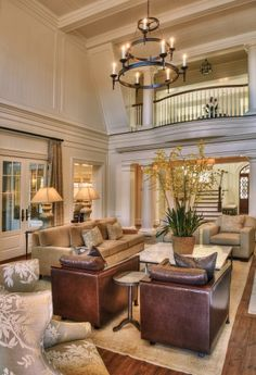 Two story living room - I'd put a wall of windows to take advantage of a view