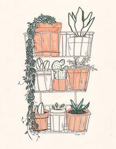 "sleepishere: "" aug 27, 2017 more plant drawings (゚⊇゚) """