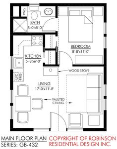 Small cottage floor plan a interior design layout of a small guest small house design and Guest House Plans, Cottage Floor Plans, Small House Plans, House Floor Plans, Cabin Plans, Guest Cottage Plans, Guest Houses, The Plan, How To Plan