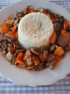 Μπασμάτι με λαχανικά στη λαδόκολλα-Basmati rice with roasted veggies