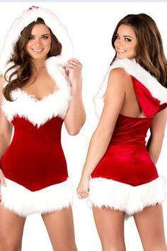 Christmas Beauty Hooded Dress