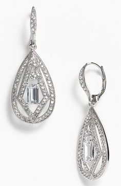 I love these earrings. They have a great vintage feel! #Nordstromweddings