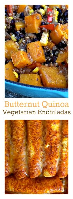 Butternut Quinoa Vegetarian Enchiladas