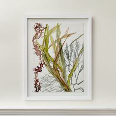 Shop Sea Layers Algae Art.  A study of motion, texture and pattern, this painting by Alexandra White gives fluid form to underwater plants in constant motion.