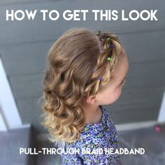 How to do a pull-through braid headband