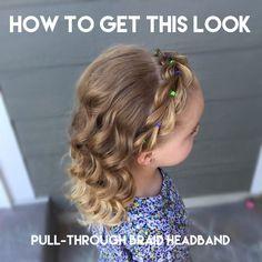 How to do a pull-through braid headband
