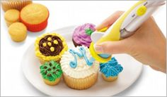 Professional Mess free Electric Cake Frosting Deco Pen with 10 Decorating Tools Cookies Cupcake, Mini Cupcakes, Cupcake Cupcake, Cupcake Birthday, Cupcake Heaven, Cupcake Ideas, Decorating Supplies, Cake Decorating, Decorating Ideas