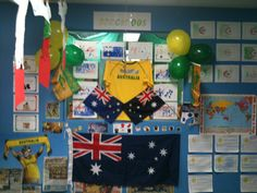 The children did lots of things artworks to cheer for the Socceroos