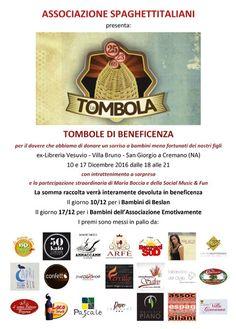 10 e 17 Dicembre - ex-Libreria Vesuvio - Villa Bruno - San Giorgio a Cremano (NA) - Tombolate di beneficenza organizzate dall'Associazione Spaghettitaliani