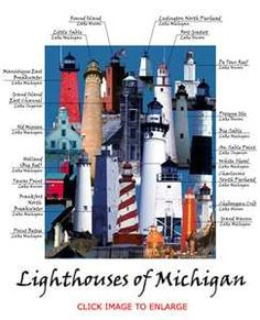 Lighthouses of Michigan want to see every one of them!!!