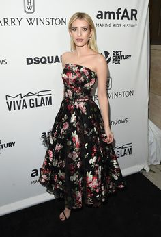 Actress Emma Roberts attends amfAR's Inspiration Gala Los Angeles at Milk Studios on October 29, 2015 in Hollywood, California.