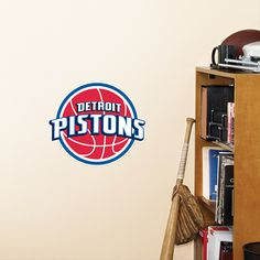 Detroit Pistons Teammate  – Peel & Stick Wall Graphic | Detroit Pistons Wall Decal | Sports Home Decor