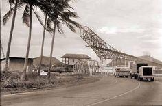 Panama - (Bridge) Puente de Las America under construction
