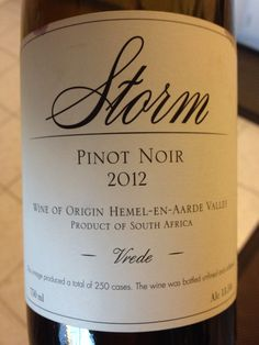 Storm South Africa - winemaker Hannes Storm