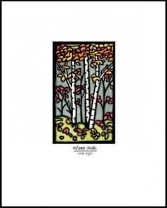 Autumn Woods Giclée Print | Tart - Sarah Angst - Visit www.sarahangst.com - fine artist and printmaker for more beautiful artwork! Reproduction prints inspired by the outdoors - flowers, animals, landscapes...