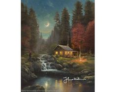 New Releases - Thomas Kinkade Away From It All Limited Edition Canvas - Thomas Kinkade Online