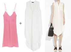 What to Wear Under Sheer Summer Clothing - The Problem: A Semi-Sheer White Shirtdress from #InStyle