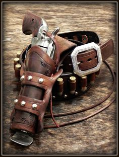 Elephant Gun, Custom Leather Holsters, Western Holsters, Cowboy Action Shooting, Revolver Pistol, Lever Action Rifles, Cowboy Gear, Gun Holster, Leather Projects
