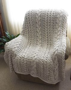 Crocheted Celtic Afghan (the one I made for Weenie)