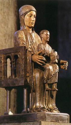 Enthroned Madonna and Child (Kyriotissa), XII century
