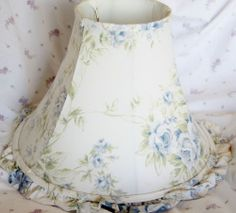 Rachel Ashwell Simply Shabby Chic British Rose Lamp Shade Large Retired Blue