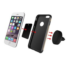 ABS material mobile accessories magnetic car holder for mobile phone