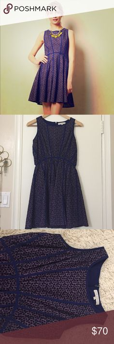 """Anthropologie San & Soni Chelsea Paneled Dress Cute and perfect for summer! Falls 35"""" from shoulder. Cotton with polyester lining and back zip. In great condition. Anthropologie Dresses"""