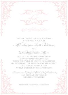 Exquisite design from The Plume Collection ready-to-order wedding/event invitations.