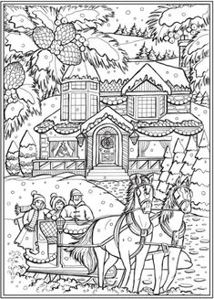 6 Country Christmas Coloring Pages – Dibujos - Malvorlagen Mandala Abstract Coloring Pages, Cute Coloring Pages, Flower Coloring Pages, Coloring Pages To Print, Coloring Books, Mandala Coloring, Fairy Coloring, Mermaid Coloring, Kids Coloring