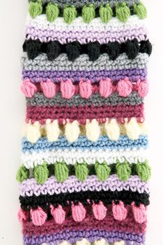 Crochet Funky Stripes Leg Warmers - Tutorial ❥ 4U // hf