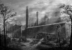 Abandoned Factory Concept Art by ~misi006 on deviantART