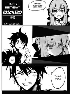 ~ \!HBD, YUU!/ ~More moments with Shinoa~ :DMORE YUUNOA! *Are you hear, Kagami? c:*\yes, I'm alive and I'm so sorry\