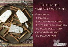 Te compartimos la receta de las paletas de arroz para los peques. Consulta la receta CLIC AQUí:  http://on.fb.me/1Azdx3S
