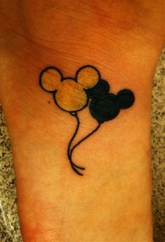 Mickey Mouse Tattoos Balloons