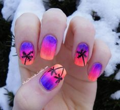 V is for vacation nails! Or where I wish I could be right now…