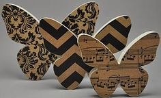 Handcrafted Wood Three Piece Butterfly Set  Handmade in New Zealand by Miss Molly