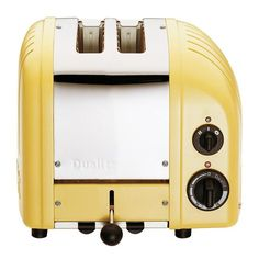 Dualit NewGen 2-Slice Toaster in Canary Yellow // such a happy colour! #productdesign #industrialdesign
