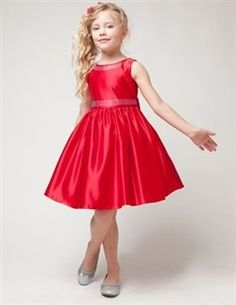 Elegant Red Dress For Your Daughter Your child will definitely turn some heads in this Red Party dress! It has a unique accent on the neckline and waist which adds a classy yet chic look to the dress.